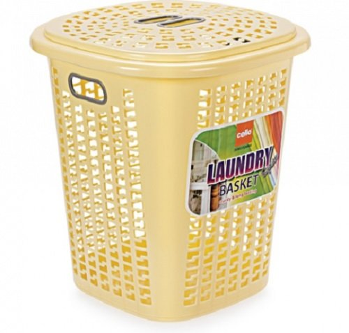 Cello Esquire Plastic Laundry Basket With Lid 40 Litres Beige Amazon In Home Kitchen
