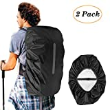 Waterproof Backpack Rain Cover, KKTICK Medium Backpack Covers (26-40L) with Reflective Strap, Adjustable Anti Slip Buckle Strap & Silver Coated Inner Layer for Outdoor Hiking Camping Traveling Cycling