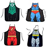 DC Comics Justice League Superman, Batman, Green Lantern, and The Flash Superhero Character Child (Youth, Petite) Apron Set