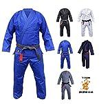 Your Jiu Jitsu Gear Brazilian Jiu Jitsu Premium 450 Blue BJJ Uniform A3