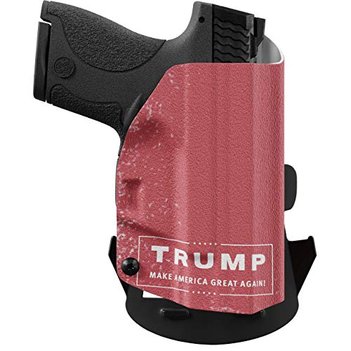 We The People - Trump Right Hand Outside Waistband Concealed Carry Kydex OWB Holster Compatible with Hi-Point C9 Gun