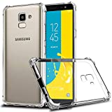 Galaxy J6 2018 Case, Zeking Slim Thin Anti-Scratch Clear Flexible TPU Silicone with Four Corner Bumper Protective Case Cover for Samsung Galaxy J6 (2018)(Transparent)