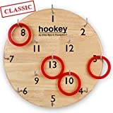 Elite Sportz Mens Gifts or Outdoor Games for Family - Our Hookey Ring Toss Game is an Easy Set Up. Simply Hang and Play This Beautifully Finished Game for Boys or Girls