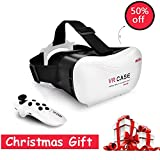 Grantek Virtual Reality Headset VR 3D Glasses with Remote Controller for iPhone 5/6/6s Plus Samsung Android Video Games