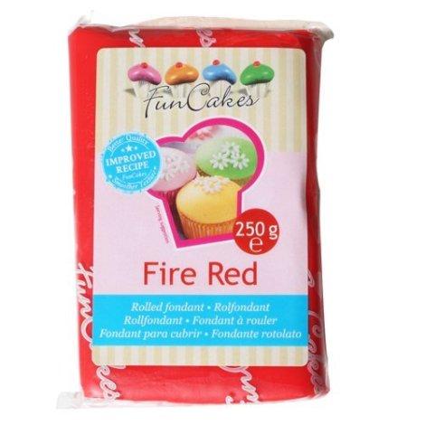 FunCakes Pasta di Zucchero Rosso Fuoco - pacco da 250 grammi