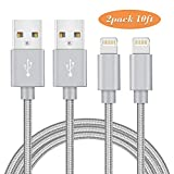 MarchPower iPhone charger Lightning to USB Cord Certified 2 Pack 10ft Extra Long Charging Cable For iPhone X 8 Plus 7 Plus 6 6S 6 Plus 5S SE iPod iPad Mini Air Pro and More (Gray)
