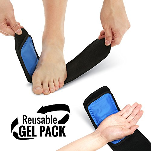 Cold & Hot Therapy Wrap, Reusable Gel Pack for Pain Relief. Great for Sprains, Muscle Pain, Bruises, Injuries, Etc. (Foot, Arm, Elbow, Ankle).
