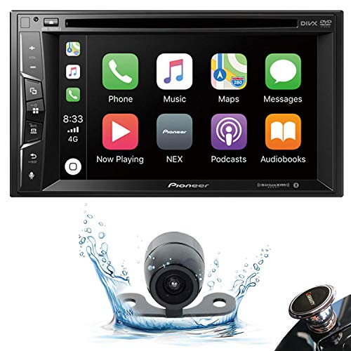 Pioneer AVH-1500NEX Double DIN Apple CarPlay in-Dash DVD/CD/AM/FM Car Stereo Receiver w/ 6.2' Touchscreen + Backup Camera + Gravity Phone Holder