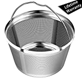 8-12 Cup Reusable Permanent Basket Coffee Filters, Stainless Steel, Perfect Fit for Mr coffee, Black and Decker Basket-Style Coffee Maker Filter(NOT Fit for Cuisinart BUNN & Hamilton Beach )