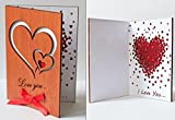 Handmade Real Wood Love You Hearts Unique Wedding Day Anniversary Greeting Card Novelty Valentine Unusual Happy Birthday Wooden Gift for Him Man Husband Boyfriend Fiance Her Wife Girlfriend Fiancee e