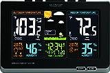 La Crosse Technology 308-1414B-INT 308-1414B Wireless Atomic Digital Color Forecast Station with Alerts, Black