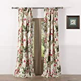 Greenland Home Butterflies Curtain Panel, 84', Multicolor