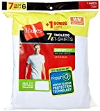 Hanes Men's Freshiq Comfortsoft Crewneck T-Shirt (Bonus Pack), White, X-Large
