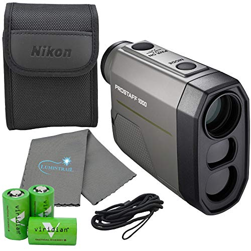 Nikon Prostaff 1000 Laser Rangefinder - 16664 Bundle with 3 CR2 Batteries and Lumintrail Cleaning Cloth