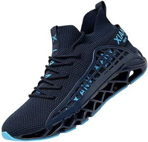KUXIE Mens Running Shoes Athletic Casual Walking Shoes Fashion Sneakers