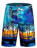 APTRO Men's Swim Trunks Beach Holiday Bathing Suits Swimwear #1701 Blue XXXL