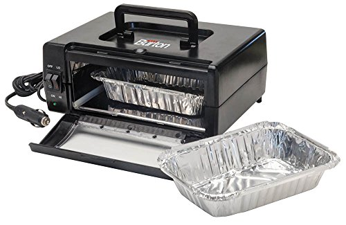 Max Burton 6910 Oven To Go Portable Cooking Appliance, Compact and Lightweight, Dual Heating Elements, Hi-lo Temperature Control, Collapsible Handle, 5-ft DC Power Cord, Uses Any Oven-safe Container