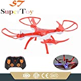 SuperToy(TM) Drone Professional Quadcopter 360° Drone with 2.4G Rc Helicopter Toy One Key Return Without Camera (Color Blue,Red Or Orange)