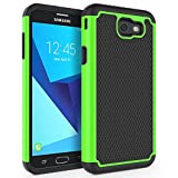 Case for Samsung Galaxy J7 V 2017 (1st Gen)/ Galaxy J7 2017 / Galaxy J7 Prime/Galaxy J7 Perx/Galaxy J7 Sky Pro/Galaxy Halo, SYONER [Shockproof] Defender Phone Case Cover [Green]