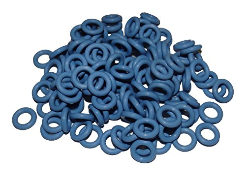 Captain O-Ring - Rubber Oring Keyboard Switch Dampeners Blue [40A-R 0.4mm] Reduction (135 pcs w/ screen cloth)