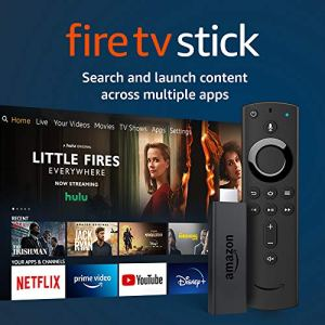 Fire TV Stick streaming media player with Alexa built in, includes Alexa Voice Remote, HD, easy set-up, released 2019 5