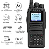 Baofeng DM-1701 Dual Band Dual Time Slot DMR/Analog Two Way Radio, VHF/UHF 3,000 Channels Ham Amateur Radio w/Free Programming Cable, Charger and PTT Earpiece, 2019 New Version
