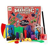 3 Bees & Me Deluxe Magic Kit Set with Toy Wand & 75 Magic Tricks for Beginners - Best Age 6 7 8 9 10