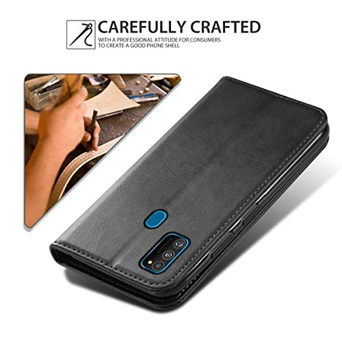 WOW Imagine Galaxy M21 / M30s Flip Case | Leather Finish | Inside TPU with Card Pockets & Stand | Magnetic Closure | Shock Proof Wallet Flip Cover for Samsung Galaxy M30s / M21 - Black 6