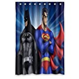 "ScottShop Custom Best Superman batman Shower Curtain Decoration Waterproof Polyester Fabric Bathroom Shower Curtains 48 ""x 72"" Inch"