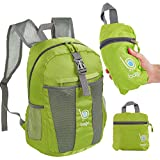 bago 25L Packable Lightweight Backpack - Water Resistant Travel and Hiking Daypack (25-Liter, Green)