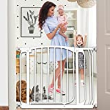 Boyoo Safety Gate with Wall Mounting Kits, Easy Close Walk Through Gate, 28