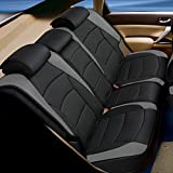 FH Group PU205102 Ultra Comfort Leatherette Front Seat Cushions, Brown/Black- Fit Most Car, Truck, SUV, or Van