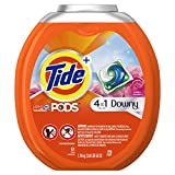 Tide PODS Plus Downy 4 in 1 HE Turbo Laundry Detergent Pacs, April Fresh Scent, 61 Count Tub