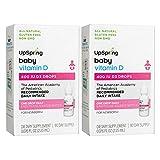 Upspring Vitamin D Drops for Baby, 400iu Liquid D3 Drops, 2 Boxes, 90 Day Supply Each