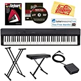 Casio Privia PX-160 Digital Piano - Black Bundle with Adjustable Stand, Bench, Sustain Pedal, Instructional Book, Austin Bazaar Instructional DVD, Online Lessons, and Polishing Cloth
