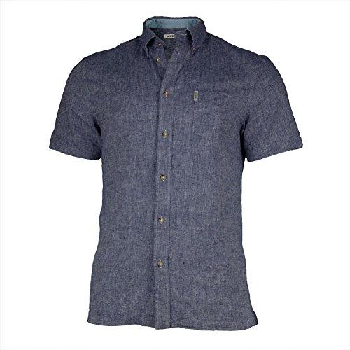 V cut sleeve detail button-down collar