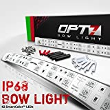 Boat Bow LED Lighting RED & Green Kit - Waterproof LED Lights for Fishing - Bass, Lake, River, Boating, Ocean, Sailing, Single Stack - 1 Mile Visibility - Marine Safety, USCG Regulation (42 LEDs)