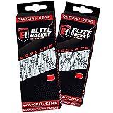 Elite Hockey Prolace Waxed Hockey Laces -- SET of 2 Pairs (White, 108')