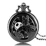 Product review of Aolvo Engraved Pocket Watch for Men & Women, The Nightmare Before Christmas Jack Skellington Theme Watch, Vintage Style Mini Pocket Watch with Chain Nacklace Decor, Ideal Gift Accessories