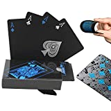 Waterproof PVC Playing Cards Set Pure Color Black Poker Card Classic Magic Tricks Tool Yacht game party toy,54pcs/Deck