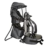 Clevr Premium Cross Country Baby Backpack Hiking Child Carrier with Stand and Sun Shade Visor Kid Toddler, Grey | Lightweight - 5lbs | 1 Year Limited Warranty