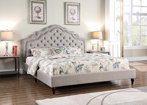 Home Life Platform Bed King Light Grey