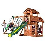 Backyard Discovery Tanglewood All Cedar Wood Playset Swing Set