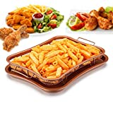 Crisper Tray – Non Stick Cookie Sheet Tray And Air Fry Mesh Basket Set, Transform Your Oven Into Oil Free Air Fryer, Rhombus