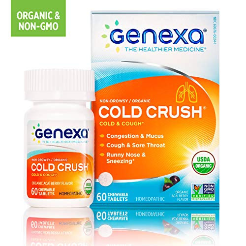 Genexa Multi-Symptom Cold Relief: Homeopathic Cold Medicine for Adults. Treats Cough, Congestion, Sore Throat, Runny Nose & More (60 tablets)