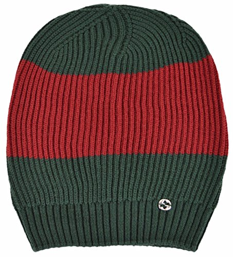 51iLkjGny9L 100% Ribbed Wool in Contrasting Shades of Red & Green Interlocking GG Plaque Oversized Baggy Styling