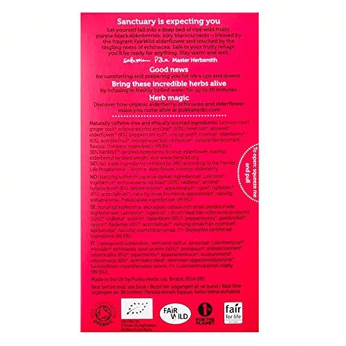Pukka Organic Elderberry & Echinacea with Elderflower Tea - 20 Tea Bags 2
