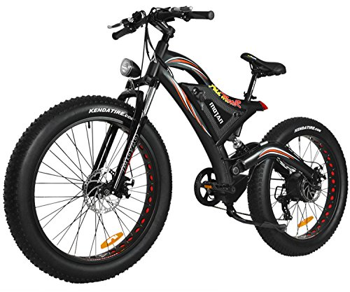 Addmotor MOTAN Electric Mountain Snow Beach Bikes Fat Tire 750W 48V 11.6AH Battery Electric Bicycle Full Suspension 2018 M-850 P7 E-bike (Red)+Fenders As Gift
