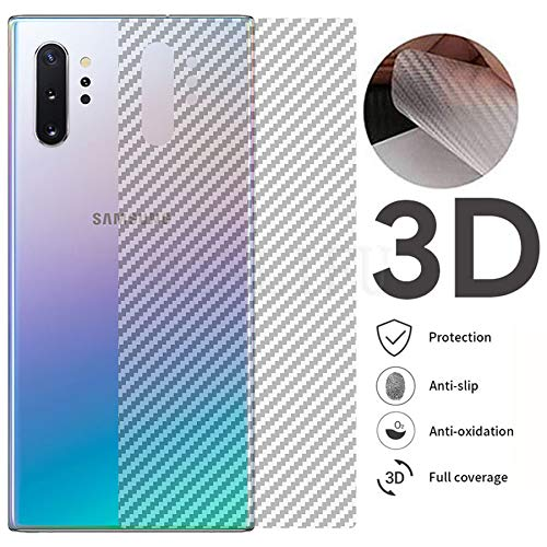 Prime Retail Carbon Fiber Vinyl Film Layer for Scratch and Dust Protection Samsung Galaxy Note 10 Plus - Transparent 1