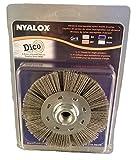 Dico Products 7200075/4.5' gray Nyalox Wheel brush, 4.5', Gray